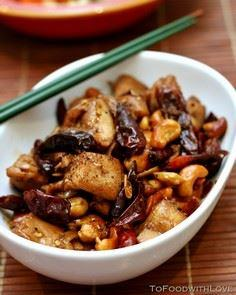 Kung Pao Chicken with Cashews and  - 195 Healthy Chicken Recipes - RecipePin.com