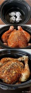 Slow Cooker Chicken - easy and del - 195 Healthy Chicken Recipes - RecipePin.com