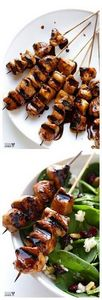 Easy Balsamic Chicken Skewers - 195 Healthy Chicken Recipes - RecipePin.com