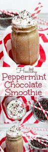 Healthy Peppermint Chocolate Smoot - 275 Healthy Smoothie Recipes - RecipePin.com