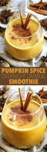 Pumpkin Spice Overnight Oatmeal Sm - 275 Healthy Smoothie Recipes - RecipePin.com