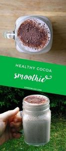 Delicious cocoa smoothie - perfect - 275 Healthy Smoothie Recipes - RecipePin.com