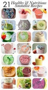21 Healthy and Nutritious Smoothie - 275 Healthy Smoothie Recipes - RecipePin.com
