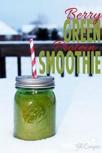 Berry Green Protein Smoothie jillc - 275 Healthy Smoothie Recipes - RecipePin.com
