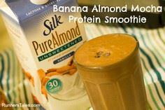 Banana Almond Mocha Protein Smooth - 275 Healthy Smoothie Recipes - RecipePin.com