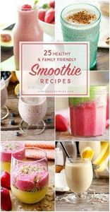 25 Healthy and Family Friendly Smo - 275 Healthy Smoothie Recipes - RecipePin.com