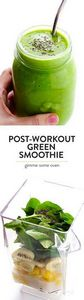 This healthy Post-Workout Green Sm - 275 Healthy Smoothie Recipes - RecipePin.com