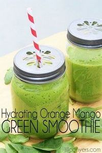 Hydrating Orange Mango Green Smoot - 275 Healthy Smoothie Recipes - RecipePin.com