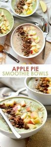 Apple Pie Smoothie Bowl - Now you  - 275 Healthy Smoothie Recipes - RecipePin.com