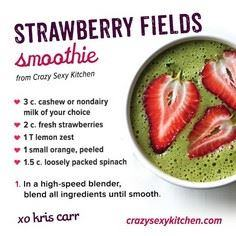 Smoothie Recipe: Strawberry Fields - 275 Healthy Smoothie Recipes - RecipePin.com