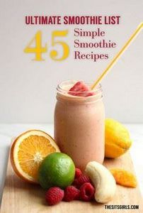 Ultimate list of smoothie recipes! - 275 Healthy Smoothie Recipes - RecipePin.com