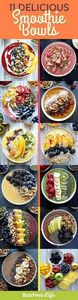 11 Stunning Smoothie Bowls That Ar - 275 Healthy Smoothie Recipes - RecipePin.com
