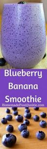 Blueberry Banana Antioxidant Smoot - 275 Healthy Smoothie Recipes - RecipePin.com
