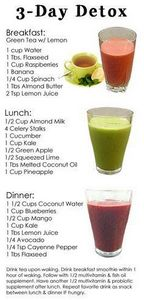 Dr. Oz's 3-Day Detox Cleanse. - 275 Healthy Smoothie Recipes - RecipePin.com