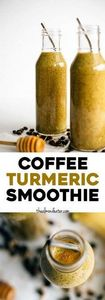 Coffee Turmeric Smoothie | A smoot - 275 Healthy Smoothie Recipes - RecipePin.com
