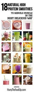 18 Natural High Protein Smoothies  - 275 Healthy Smoothie Recipes - RecipePin.com
