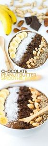 Chocolate Peanut Butter Smoothie B - 275 Healthy Smoothie Recipes - RecipePin.com