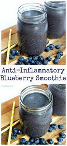 Anti-Inflammatory Blueberry Smooth - 275 Healthy Smoothie Recipes - RecipePin.com