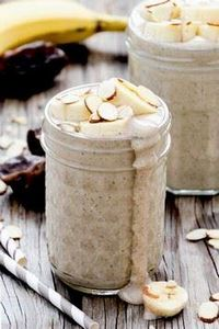 Roasted Banana and Almond Smoothie - 275 Healthy Smoothie Recipes - RecipePin.com