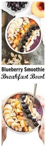 Blueberry Smoothie Breakfast Bowl- - 275 Healthy Smoothie Recipes - RecipePin.com
