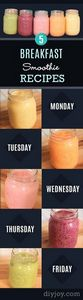 Healthy smoothie recipes and easy  - 275 Healthy Smoothie Recipes - RecipePin.com