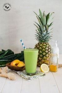 Tropical Turmeric Cleanser Green S - 275 Healthy Smoothie Recipes - RecipePin.com