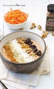 This carrot cake smoothie bowl is  - 275 Healthy Smoothie Recipes - RecipePin.com