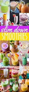 20 delicious SLIM DOWN smoothie re - 275 Healthy Smoothie Recipes - RecipePin.com