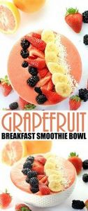 This Grapefruit Breakfast Smoothie - 275 Healthy Smoothie Recipes - RecipePin.com
