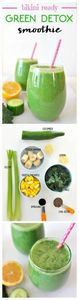 Bikini Ready 'Green Detox Smoothie - 275 Healthy Smoothie Recipes - RecipePin.com