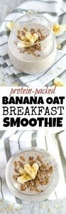 Banana Oat Breakfast Smoothie - 20 - 275 Healthy Smoothie Recipes - RecipePin.com