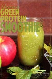 Yummy Green Protein Smoothie  jill - 275 Healthy Smoothie Recipes - RecipePin.com
