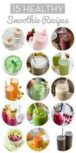 15 Healthy Smoothie Recipes // Nat - 275 Healthy Smoothie Recipes - RecipePin.com