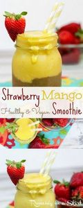 Healthy Strawberry and Mango Smoot - 275 Healthy Smoothie Recipes - RecipePin.com