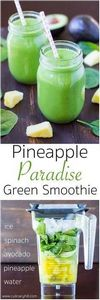 A sweet and fruity spinach smoothi - 275 Healthy Smoothie Recipes - RecipePin.com