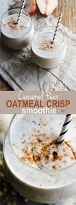 Creamy Caramel Pear Oatmeal Crisp  - 275 Healthy Smoothie Recipes - RecipePin.com