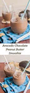 A creamy, thick avocado chocolate  - 275 Healthy Smoothie Recipes - RecipePin.com
