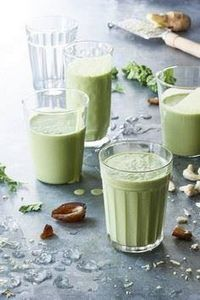 Tastes-Like-Ice-Cream Kale Green S - 275 Healthy Smoothie Recipes - RecipePin.com