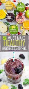 5 of the BEST tasting and Easy to  - 275 Healthy Smoothie Recipes - RecipePin.com