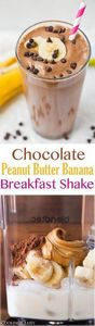 Chocolate Peanut Butter Banana Bre - 275 Healthy Smoothie Recipes - RecipePin.com