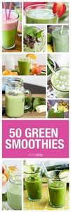 50 Green Smoothies - Whether it's  - 275 Healthy Smoothie Recipes - RecipePin.com
