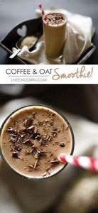 This healthy coffee breakfast smoo - 275 Healthy Smoothie Recipes - RecipePin.com