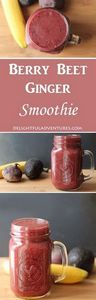 Berry, Beet, Ginger Smoothie - 275 Healthy Smoothie Recipes - RecipePin.com