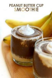 Healthy Peanut Butter Cup Smoothie - 275 Healthy Smoothie Recipes - RecipePin.com