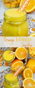Sunshine in a cup!  Healthy Orange - 275 Healthy Smoothie Recipes - RecipePin.com