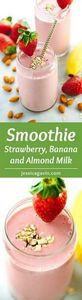Strawberry Banana Smoothie with Al - 275 Healthy Smoothie Recipes - RecipePin.com