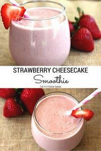 Vegan Strawberry Cheesecake Smooth - 275 Healthy Smoothie Recipes - RecipePin.com