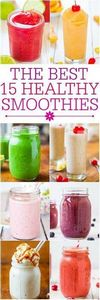 The Best 15 Healthy Smoothies - Fa - 275 Healthy Smoothie Recipes - RecipePin.com