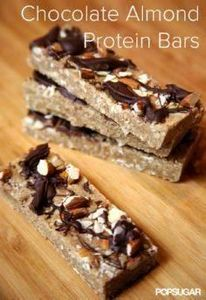Chocolate Almond Protein Bars You' - 240 High Protein Recipes - RecipePin.com