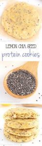 Lemon Chia Seed Protein Cookies -- - 240 High Protein Recipes - RecipePin.com